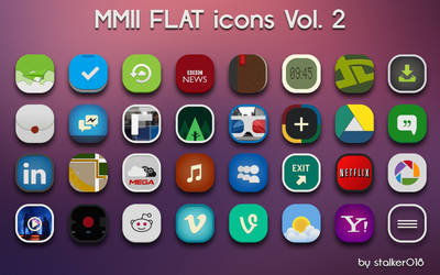 MMII FLAT icons Vol.2 by stalker018