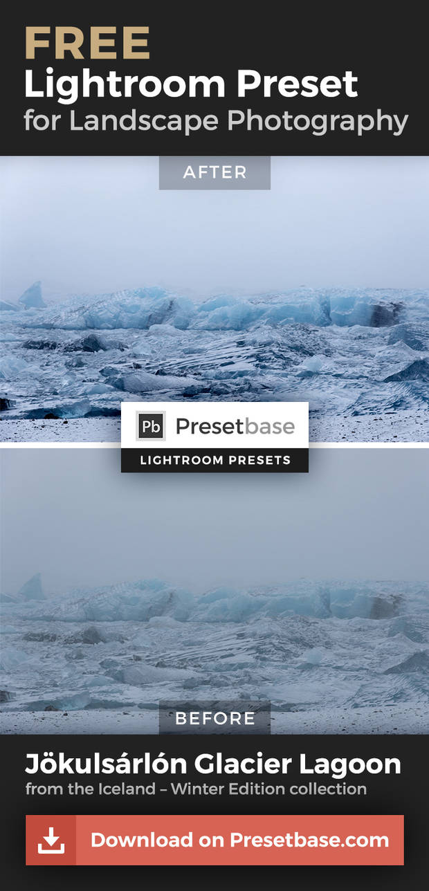 Iceland Winter Edition (FREE Lightroom Preset) by Presetbase on