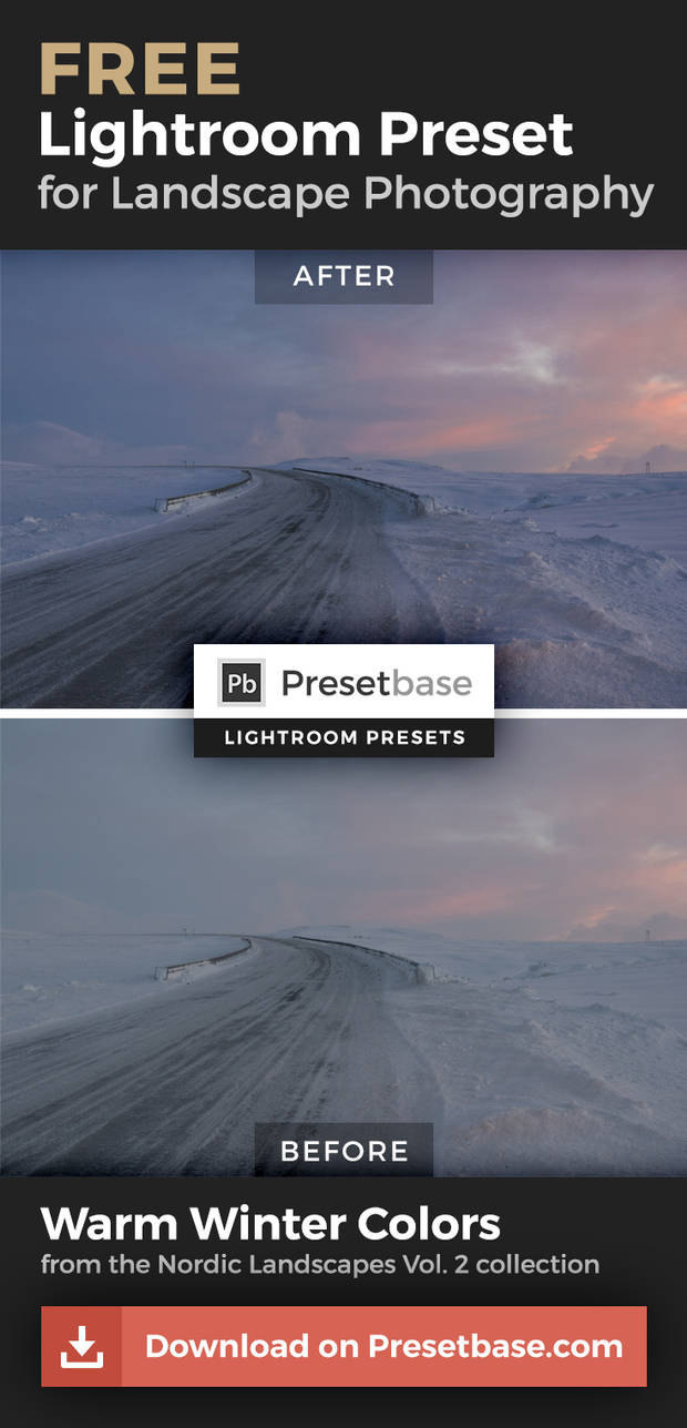 Warm Winter Colors (FREE Lightroom Preset) by Presetbase on