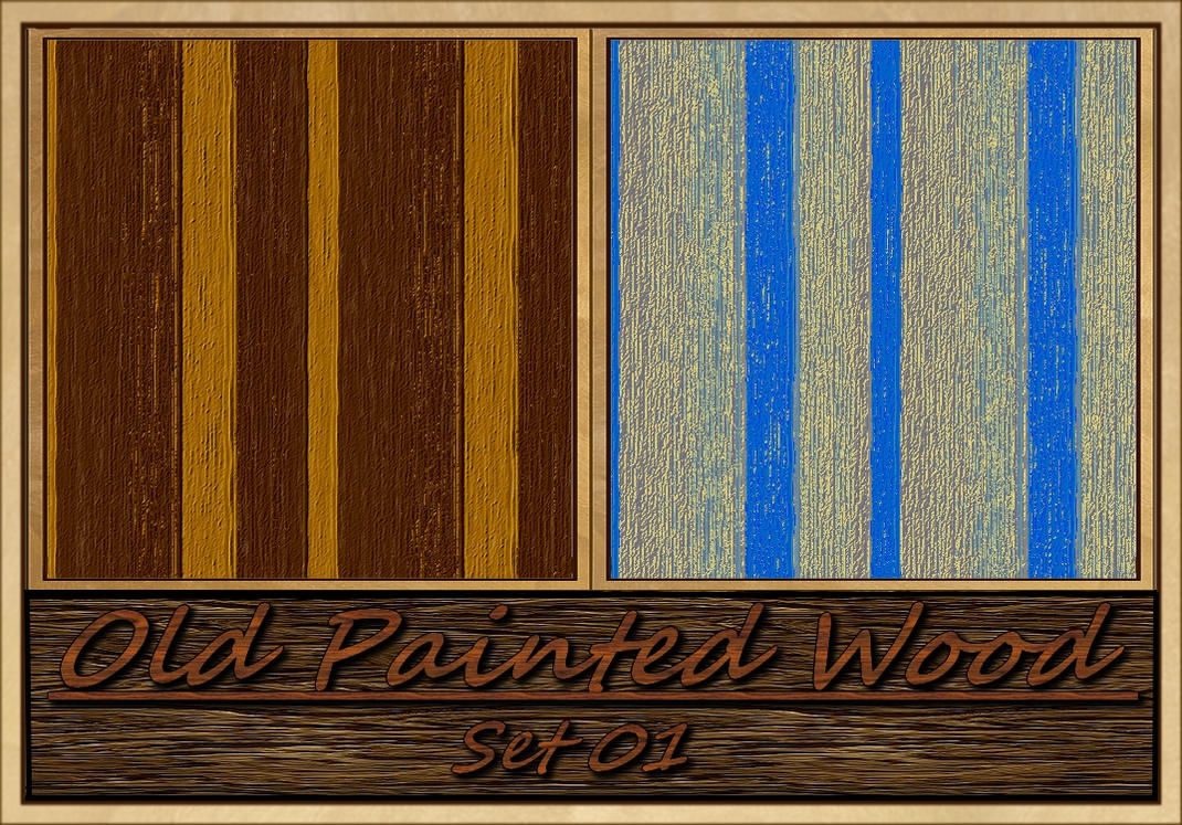 Old Painted Wood-Set01 by allison731