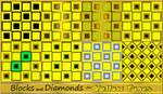 Blocks and Diamonds-Yellow Tones by allison731