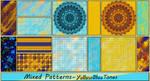 Mixed Patterns-YellowBlue Tones by allison731