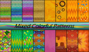 Mixed Colorful Patterns by allison731