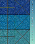 Ocean Blue Tiles by allison731