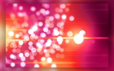 Pink-Red Bokeh Wallpaper