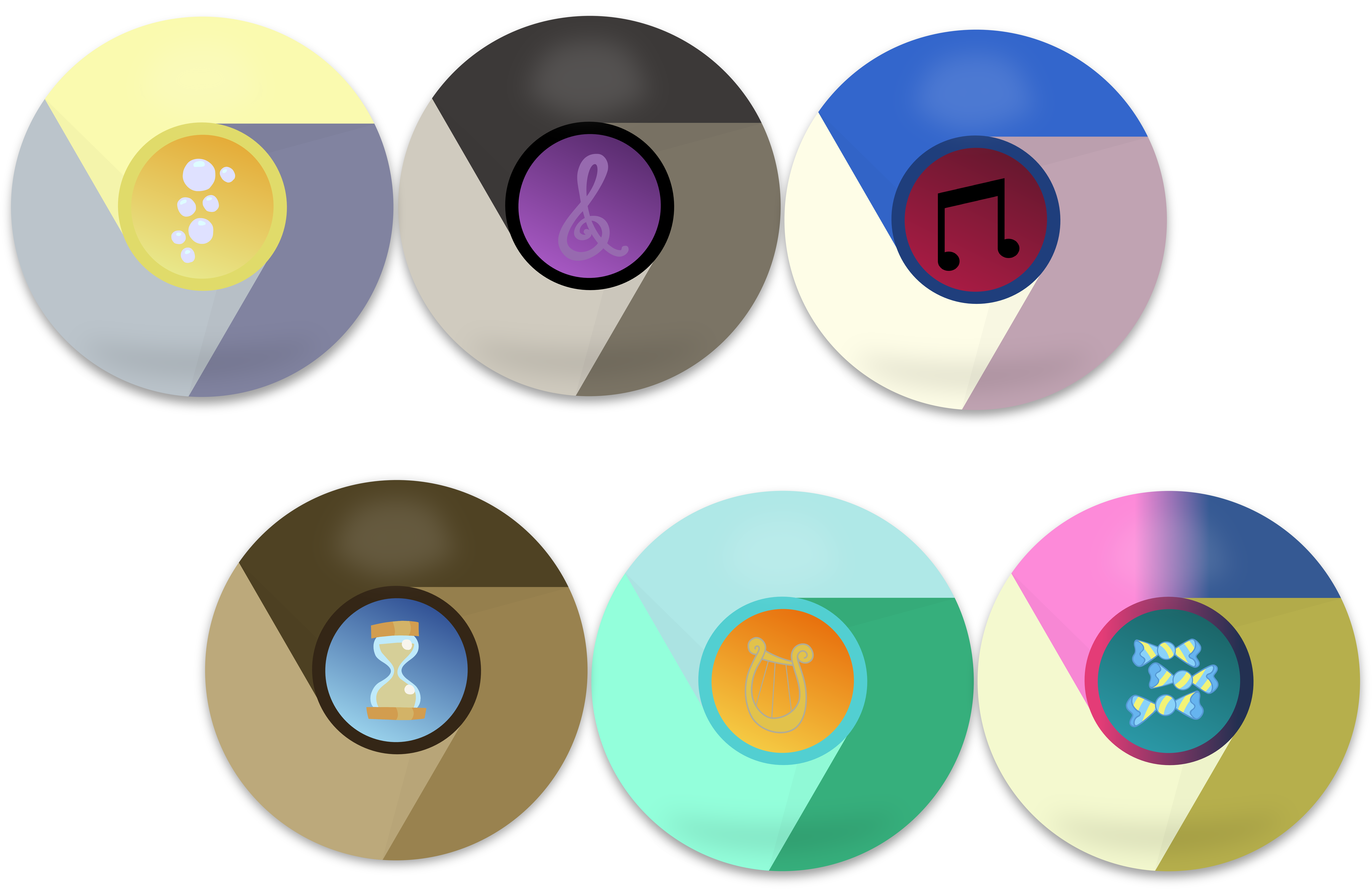 2nd Mane 6 Google Chrome Icons by EMedina13 on DeviantArt