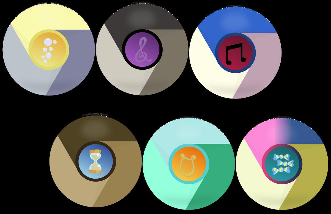 2nd Mane 6 Google Chrome Icons by EMedina13