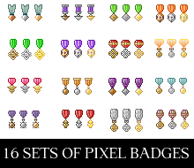 Pixel Badges