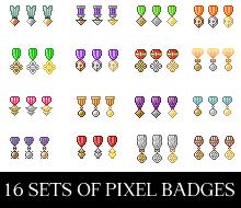 Pixel Badges by crissie2389