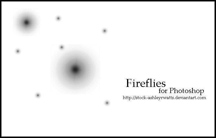 Fireflies for Photoshop