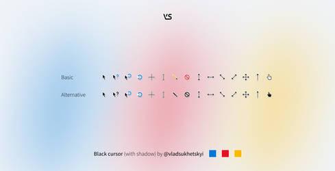 Black cursor (with shadow)