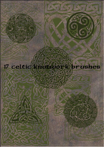 Celtic knotwork brushes by Gruselwusel