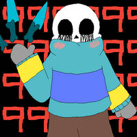Distorted!tale Sans (GIF) by RavageSans