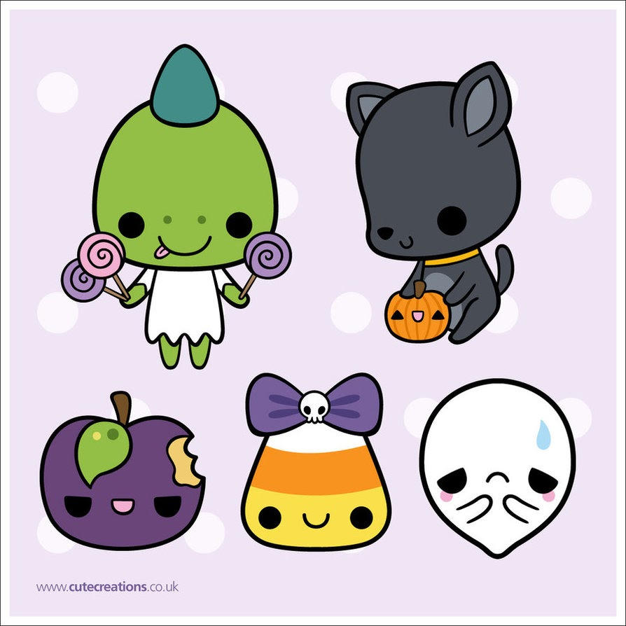 Pack De Monitos Kawaii Halloween 332082459 on Penguin Printables Pack