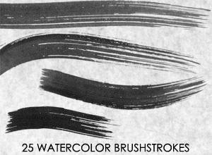 25 Watercolor Brushstrokes by HumanOddball