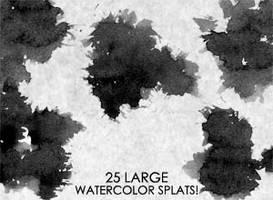 25 Large Watercolor SPLATS