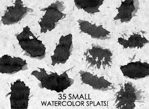 35 Small Watercolor SPLATS by HumanOddball