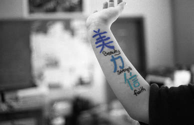 blue tattoo