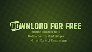 Motion Control Font Update: Regular Weight