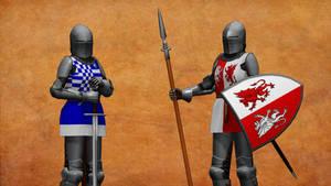 Medieval Knight Armor DL