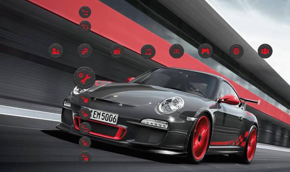 Porsche GT3 RS Grey - Red