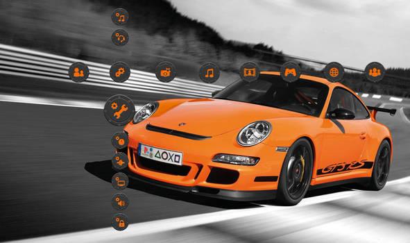 Porsche GT3 RS Orange - Black
