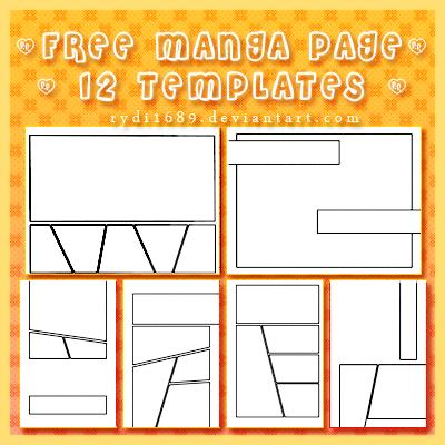 Free manga page templates by rydi1689