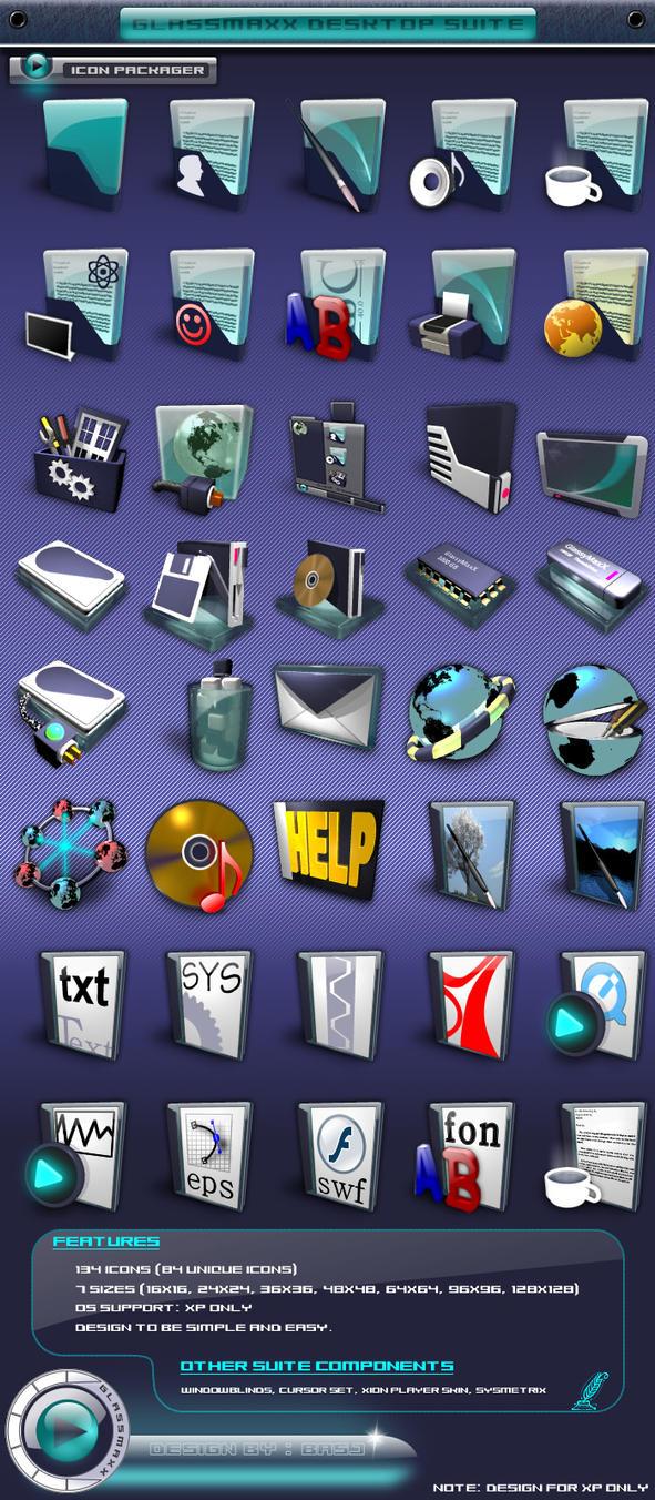 GlassMaxX Icon Pack by basj