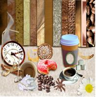 Coffee Break Elements 2 by 1purplepixie