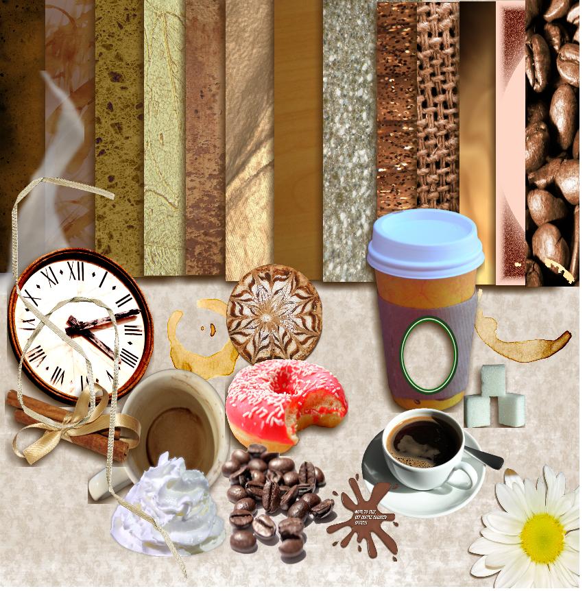Coffee Break Elements 1 by 1purplepixie