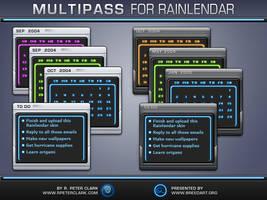 Multipass Rainlendar by rpeterclark