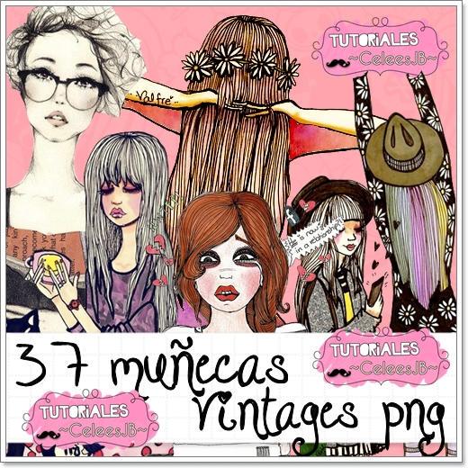 Pack de dibujos vintages by Serranista