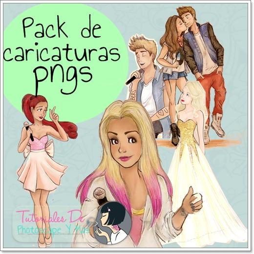 Pack de caricaturas pngs by Serranista