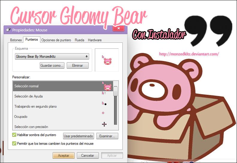 Cursor Gloomy Bear by monzedkltz