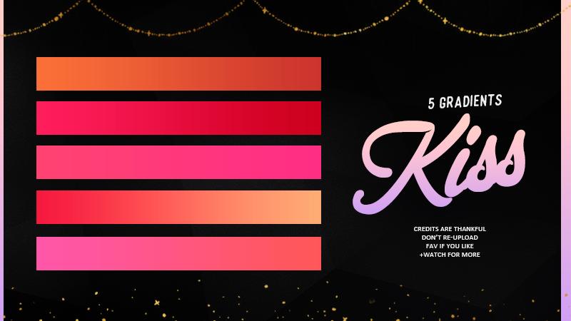 Kiss|Gradients #01 by Mondai-Girl