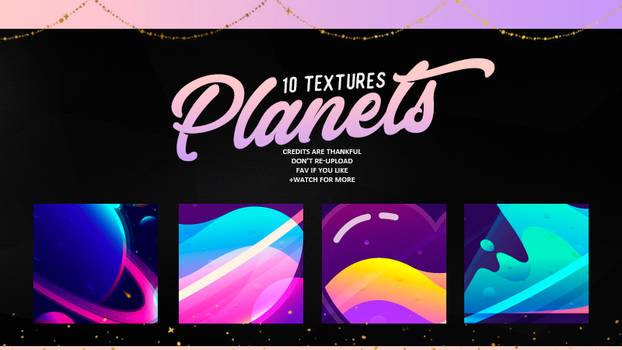 PLANETS | TEXTURES #01 by Mondai-Girl