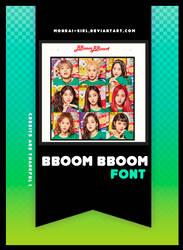 BBOOM BBOOM | FONT #14 by Mondai-Girl