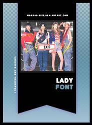 LADY | FONT #17 by Mondai-Girl