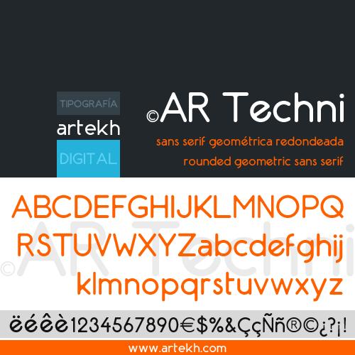 AR Techni Typeface by artekhtypo