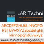 AR Techni Typeface