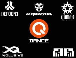 Q-Dance events vectorized logos collection
