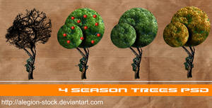 4 season trees PNG