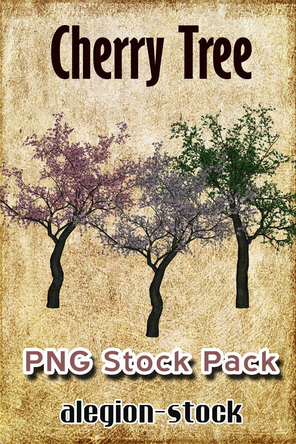 Cherry Tree PNG Stock Pack by Alegion-stock