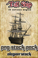 Tall Ship PNG Pack by Alegion-stock