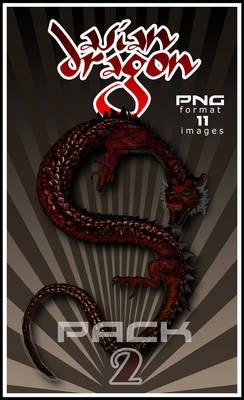 Asian Dragon PNG pack 2