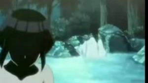 Hinata Dancing Under A Waterfall