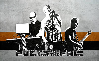 Poets of the Fall Trio Stencil by pwlodi