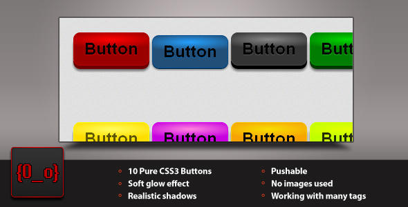 Lumina CSS3 Buttons by iCodeZombie