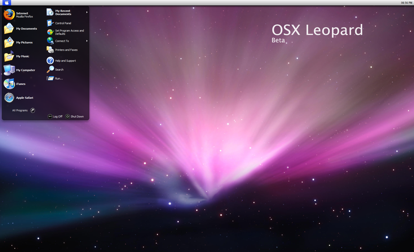OSX Leopard beta 0.2 by dobee