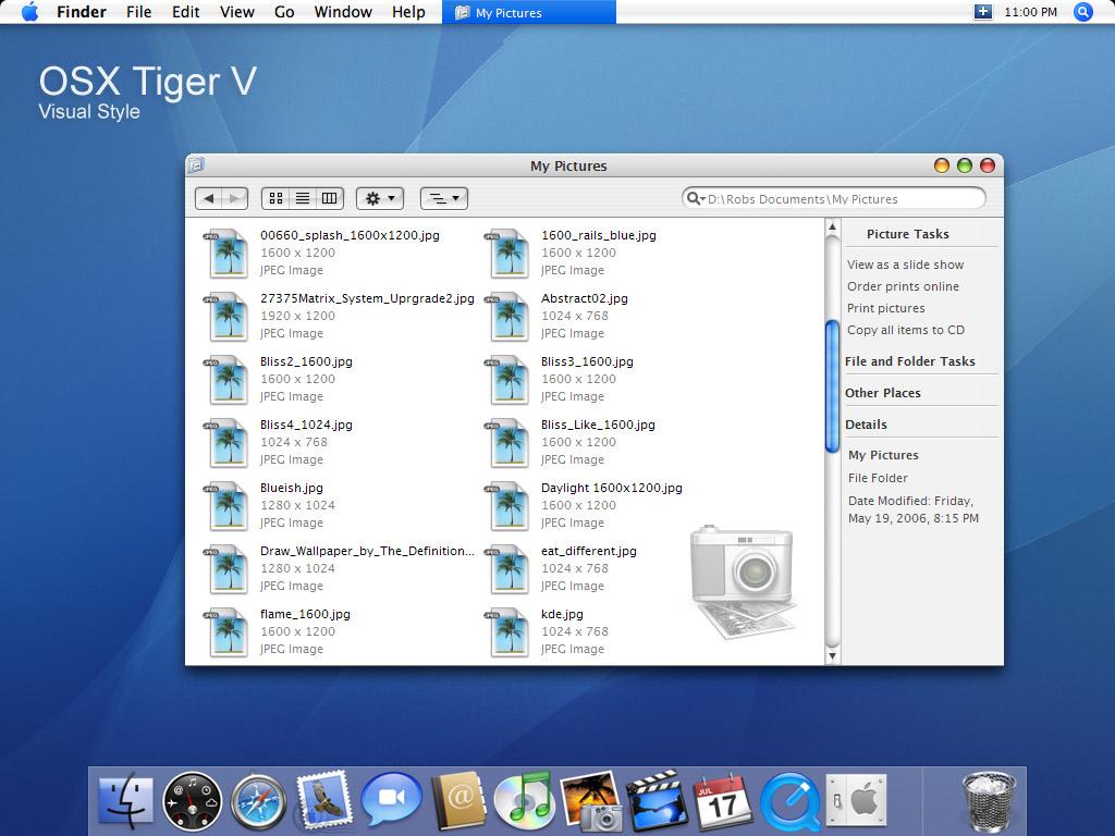 OSX Tiger V visual style
